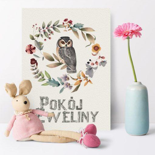 Plakat dla Eweliny z sową