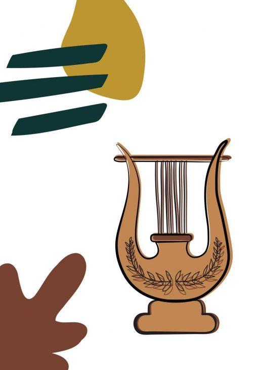 Plakat z motywem liry