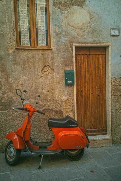 Obraz z ikoną włoskich skuterów