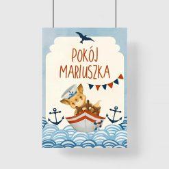 Marynistyczny plakat imienny dla chłopca