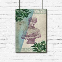 Plakat ze statuetką kobiety