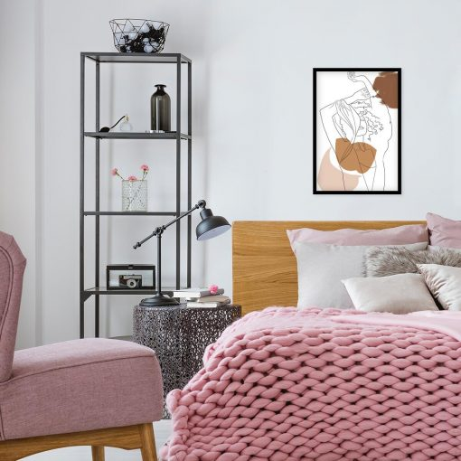 Plakat line-art do dekoracji jadalni