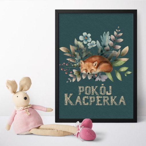 Plakat zielony dla dziecka