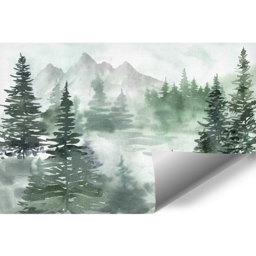 Zielony las - Fototapeta dziecięca