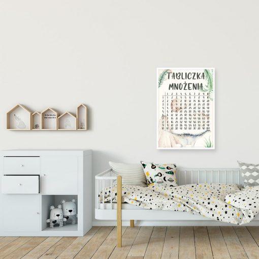 Plakat do przedszkola - Tabliczka mnożenia