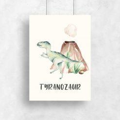 Plakat dla chłopca - Zielony Rex
