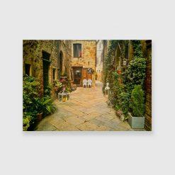 Obraz z włoskim miasteczkiem