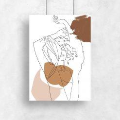 Kobieta i Wiatr - Plakat do salonu