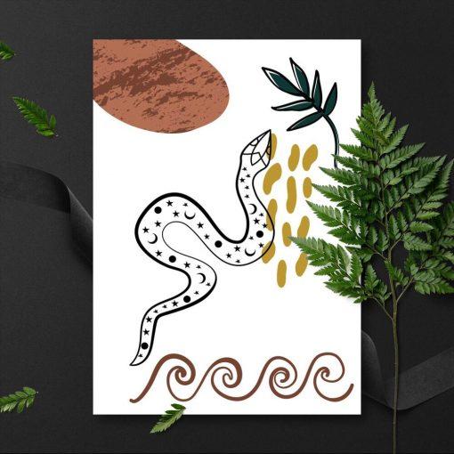 Plakat z akcentami natury