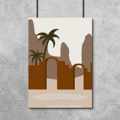 Plakat do salonu - Egzotyczna brama