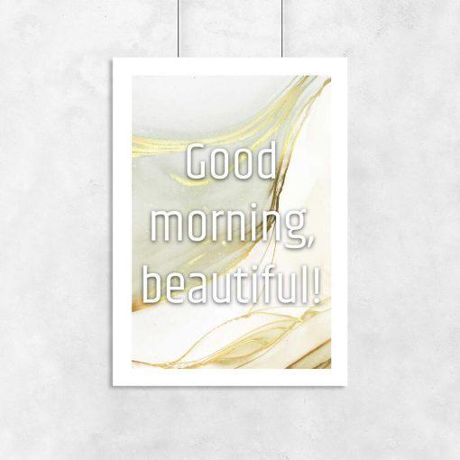 Plakat dzień dobry piękna bez ramy
