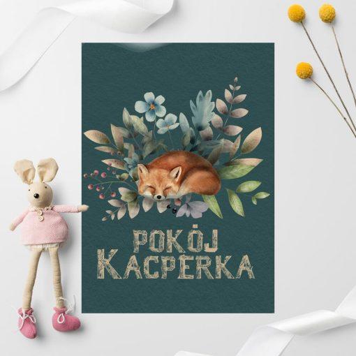Plakaty do dziecinnego pokoju z liskiem