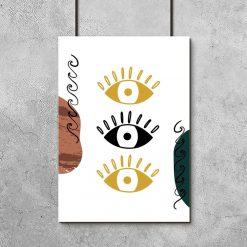 Plakat ze źrenicami w oczach