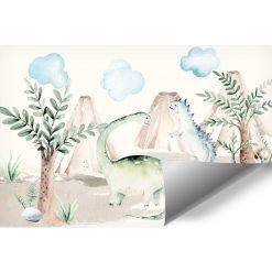 Tapeta dla chłopca przedstawiająca wulkany