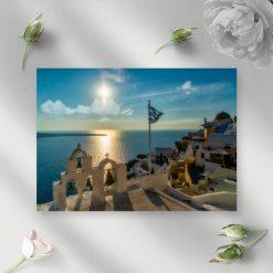 Obraz z krajobrazem Santorini do dekoracji salonu