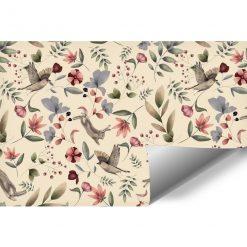 Tapeta dla dzieci - kwiatuszki i króliczki