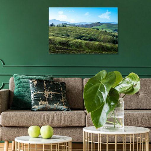 Kolorowy obraz z letnia scenerią do dekoracji gabinetu