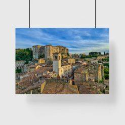 Plakat z widokiem na dachy włoskiego miasta