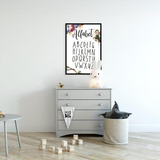 Plakat dla dzieci z motywem liter