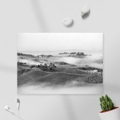 Obraz do salonu z czarno-białym krajobrazem
