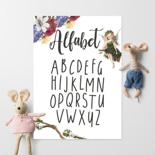 Plakat do ozdoby szkolnej klasy z literami