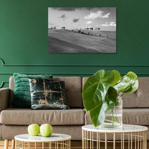 Obraz do gabinetu z widokiem na pola