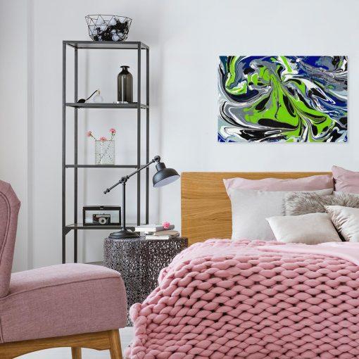 Abstrakcyjny obraz - Eksplozja barw