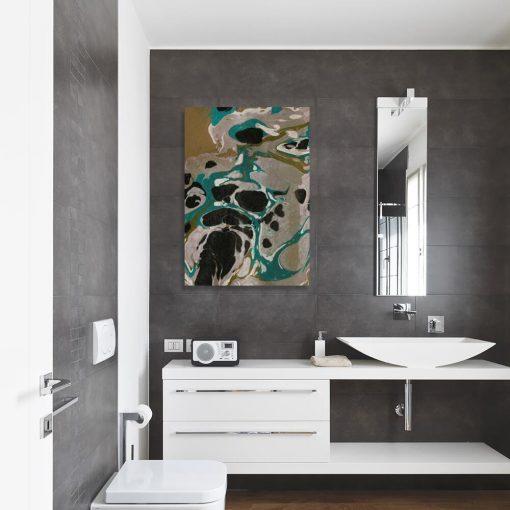 Innowacyjny obraz z turkusową abstrakcją