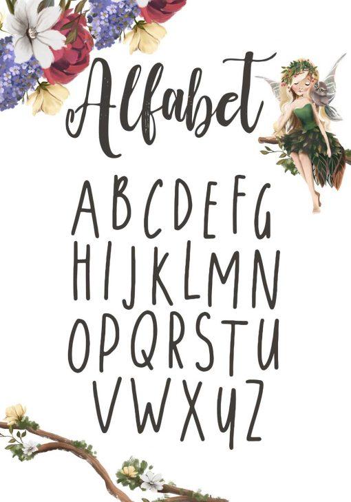Plakat z typografią do przedszkola