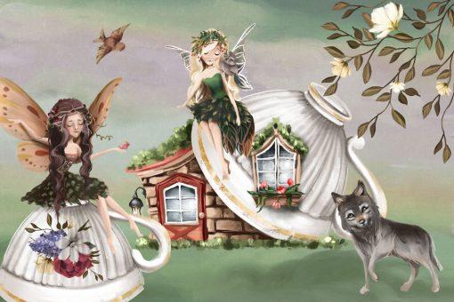 Magiczna chatka - Tapeta dla dzieci