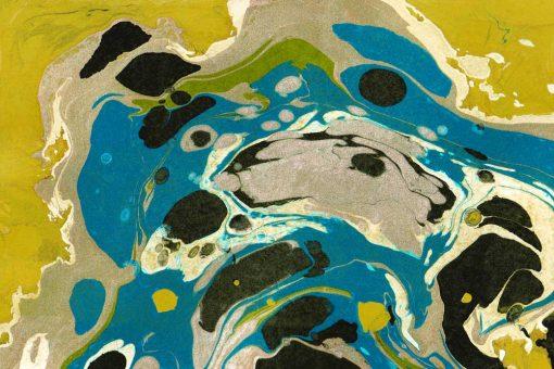 Nowoczesny obraz z żółtą abstrakcją