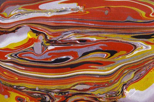 Pomarańczowo-żółty obraz z abstrakcją do nowoczesnych wnętrz