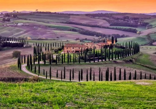 Obraz pejzaż Toskanii do salonu
