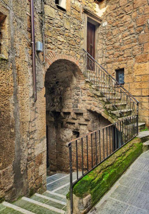 Obraz zabytkowe miasteczko w Toskanii