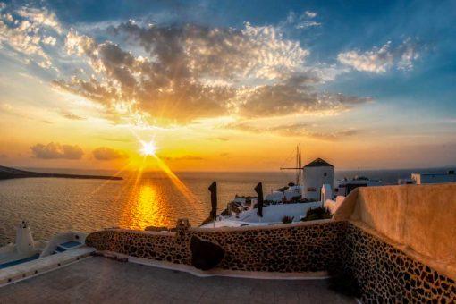 Greckie Santorini - Obraz do jadalni