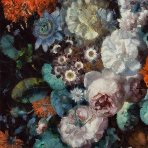 Kwiatowa foto-tapeta w rustykalnym stylu do przedpokoju