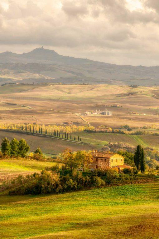 Obraz panorama Toskanii do dekoracji salonu