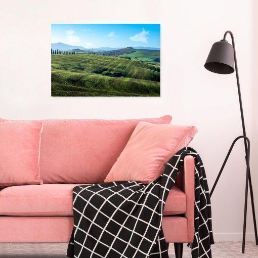 Kolorowy obraz z letnia scenerią do dekoracji jadalni
