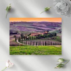Obraz z widokiem na dolinę