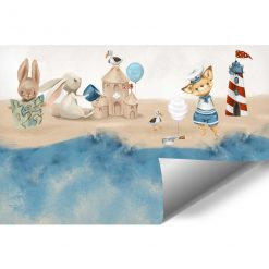 Bajkowa plaża - fototapeta dla dzieci