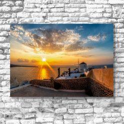 Greckie Santorini - Obraz do salonu
