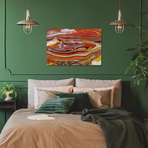 Obraz z żółtą abstrakcją do sypialni