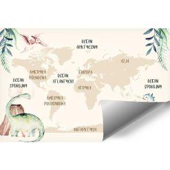 Tapeta z mapą dla dzieci