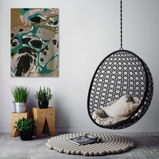 Abstrakcja - Obraz nowoczesny do jadalni