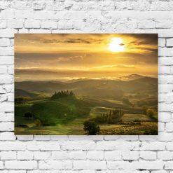 Obraz do salonu z zachodem słońca