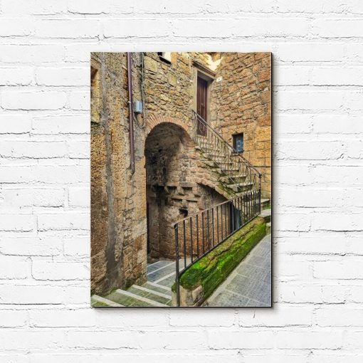 Obraz stara uliczka w Castiglione d'Orcia