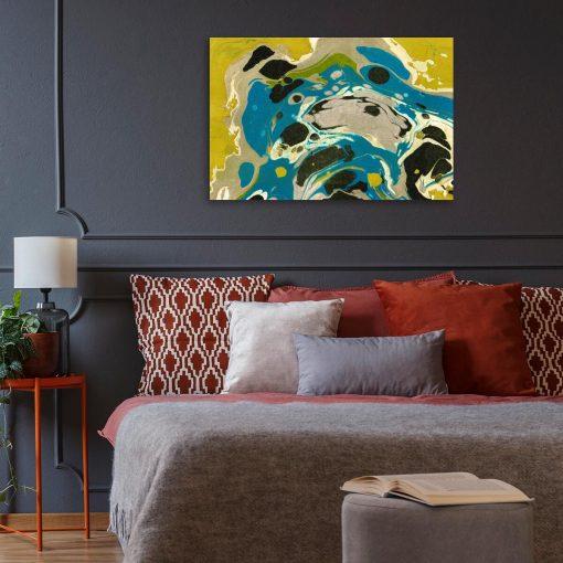 Żółta abstrakcja - Obraz z reprodukcją do salonu
