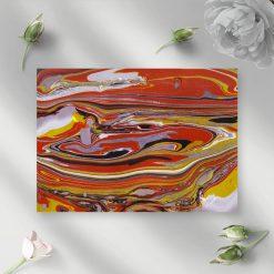 Obraz z motywem pomarańczowej abstrakcji