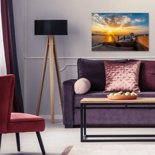 Greckie Santorini - Obraz do sypialni