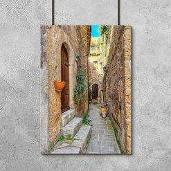 Plakat z uliczką w miasteczku Pitigliano